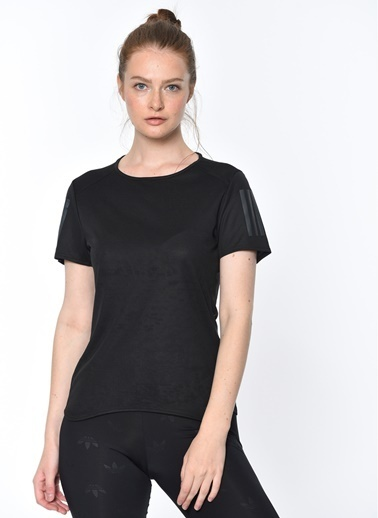 adidas Adidas Kadın Koşu - Yürüyüş T-Shirt Cf2148 Rs Ss Tee W Siyah